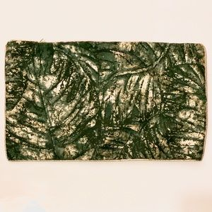Velvet & Metallic Jacquard Palm Leaf Pillow Cover